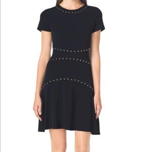 Michael Michael Kors Studded Seamed Dress